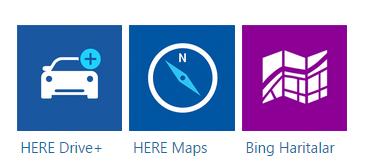 Microsoft Lumia 535 navigasyon uygulamaları