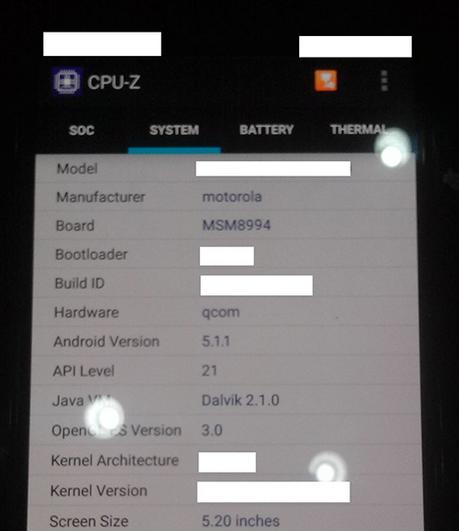 Motorola Moto X (2015) akıllı telefon resim