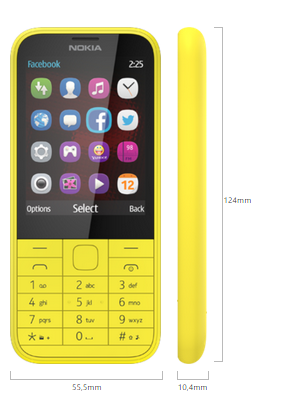 Nokia 225 boyut