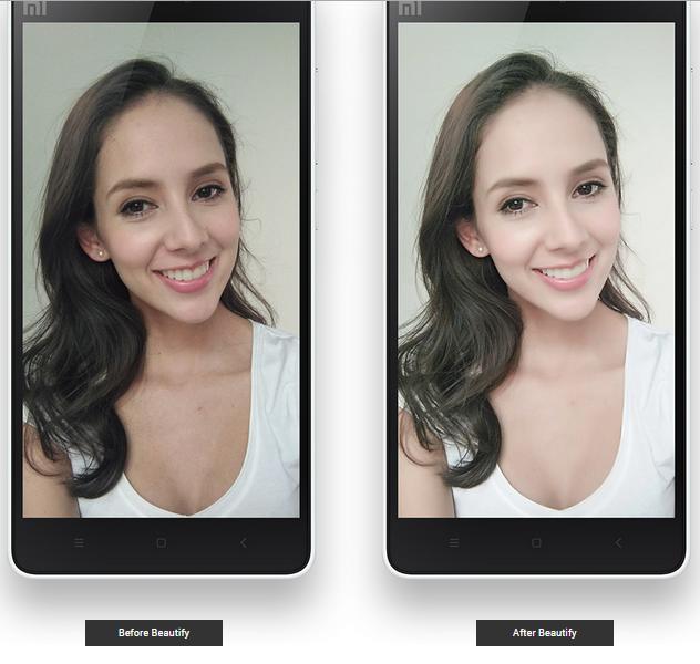 mi4i akıllı telefon kamerası selfie güzellik modları